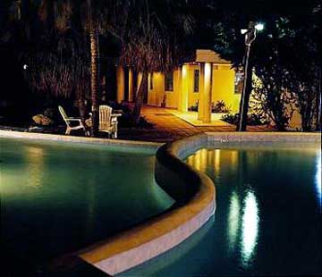 Night View of the Asta Beach Resort in Barbados Swimming Pool