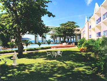 View of the Grounds at the Asta Beach Resort in Barbados